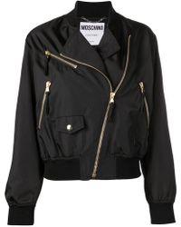 Moschino - Куртка-бомбер С Логотипом - Lyst