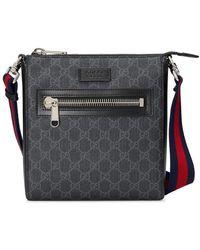 Gucci GG Supreme Kleine Messengerbag - Zwart