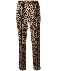 Dolce & Gabbana - Leopard Print Tapered Trousers - Lyst