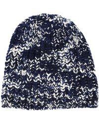 The Elder Statesman - Pattern Knit Beanie - Lyst