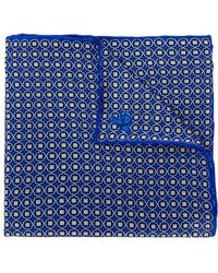 Canali - Floral Print Pocket Square - Lyst