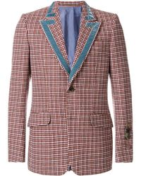 39063ae09 Gucci Heritage Jacket With Bees And Stars in Blue for Men - Lyst