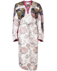 Reality Studio - Floral Print Midi Dress - Lyst