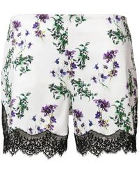 Blumarine - Floral Print Lace Shorts - Lyst