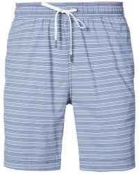 "Onia - Charles 7"" Striped Swim Trunks - Lyst"