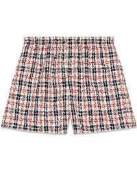 Gucci - Tweed Check Shorts - Lyst