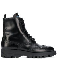 Prada - Brogue Detailed Boots - Lyst