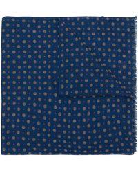 Pal Zileri - Dot Print Fringed Scarf - Lyst