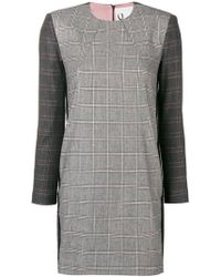 8pm - Blake Checked Dress - Lyst