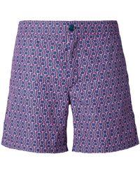 Fashion Clinic Chain Print Swim Shorts - Purple