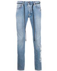 Off-White c/o Virgil Abloh - Slim-fit jeans - Lyst