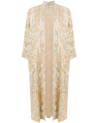 Mes Demoiselles - Shimmery Print Kimono Coat - Lyst