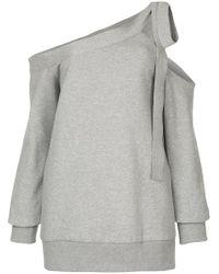 Goen.J - Off-the-shoulder Sweatshirt - Lyst