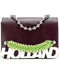 House of Holland - Branded Top Handle Bag - Lyst