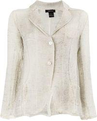 Avant Toi - Sheer Knit Blazer Jacket - Lyst