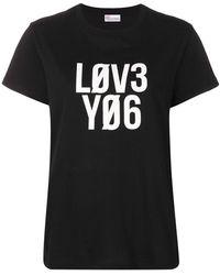 RED Valentino - Футболка С Принтом 'love You' - Lyst