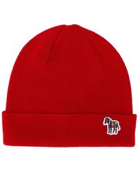 PS by Paul Smith - Ribbed Logo Beanie - Lyst
