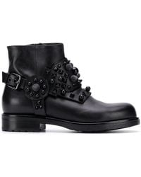 Albano - Studded Ankle Boots - Lyst