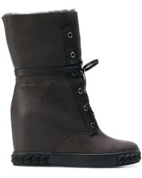 Casadei - Wedge Ankle Boots - Lyst