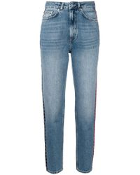 Anine Bing - Side Stripe High Waisted Jeans - Lyst