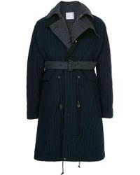 Sacai - Contrast Layer Pinstripe Raincoat - Lyst