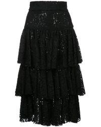 Bambah - Layered Midi Skirt - Lyst