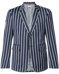 Thom Browne | Classic Single Breasted Sport Coat In Bold Blazer Stripe Wool/ Cotton | Lyst