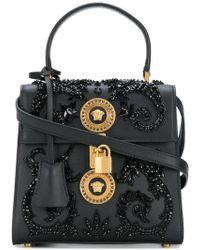 Versace - Embellished Medusa Shoulder Bag - Lyst f38807e56e513