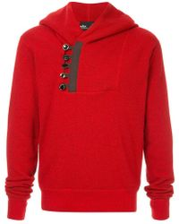 Kolor - Button Embellished Hoodie - Lyst