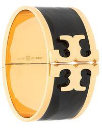 Tory Burch - Black Enamel Bracelet - Lyst
