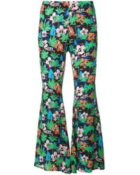 Love Moschino - Graphic Print Flared Trousers - Lyst