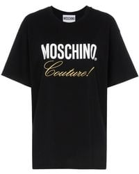 Moschino - Black Couture Logo Cotton T-shirt - Lyst