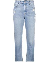 Liu Jo - Frayed Cropped Jeans - Lyst