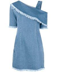 SJYP - One Sleeve Denim Dress - Lyst