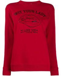 RED Valentino Not Your Lady Print Sweatshirt - レッド