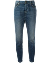 Burberry - Relaxed Fit Mid-indigo Jeans - Lyst