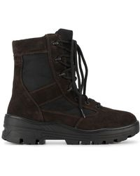 Yeezy - Lace-up Combat Boots - Lyst