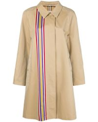 Burberry - Collegiate Stripe Gabardine Car Coat - Lyst