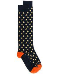 Fefe - Cockerel Patterned Socks - Lyst