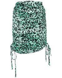 Laneus - Leopard Print Drawstring Skirt - Lyst