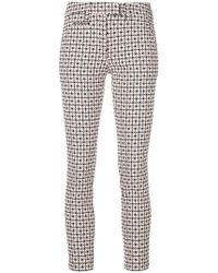 Dondup - Slim Printed Trousers - Lyst