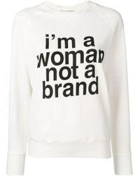 Erika Cavallini Semi Couture - 'i'm A Woman, Not A Brand' Jumper - Lyst
