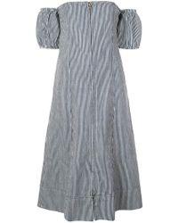 Apiece Apart - Striped 'no-shoulder' Midi Dress - Lyst