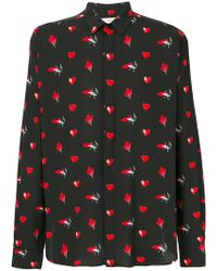 Saint Laurent - Signature Yves Collar Printed Shirt - Lyst