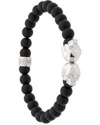 Northskull - Twin Skull Bracelet - Lyst