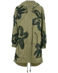 Moschino | Floral Painted Parka | Lyst