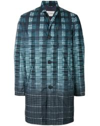 Etro | Check Single-breasted Coat | Lyst