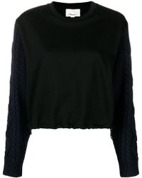 3.1 Phillip Lim - Cabled-sleeve Sweatshirt - Lyst