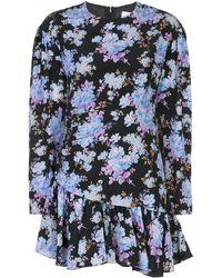 Les Rêveries - Floral Mini Dress - Lyst