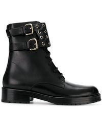 RED Valentino - Red(v) Buckled Ankle Boots - Lyst